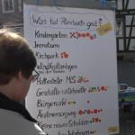 Beim Punkten auf dem FDP Rimbach Infostand