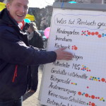 Christopher Hörst auf dem FDP Rimbach Infostand