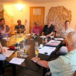 Mitglieder der Rimbacher FDP bei der Jahreshauptversammlung