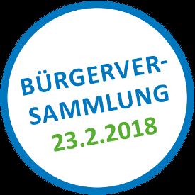 Bürgerversammlung 23.02.2018