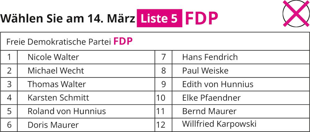 FDP Rimbach Flyer 2021 Liste